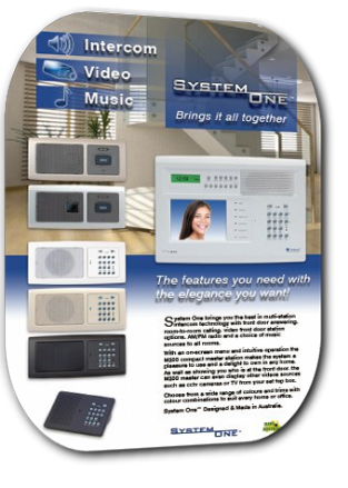 Valet System One Vision multi room with master and video intercom Brochure