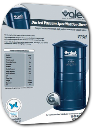 Valet V1SH Ducted Vacuum System Brochure
