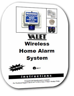 Valet VBC Wireless alarm system users manual